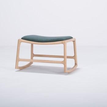 Scaun/taburet cu construcție din lemn de stejar Gazzda Dedo, verde imagine
