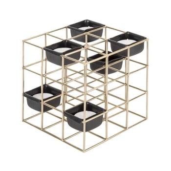 Sfeșnic din metal PT LIVING Structure Square, auriu bonami.ro