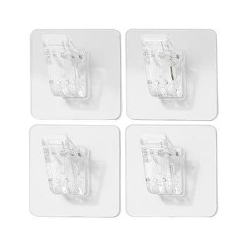 Set 4 agățători cu clips de perete Compactor Magic Clips bonami.ro