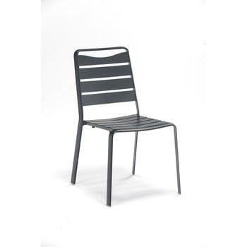 Set de 4 scaune stivuibile de grădină din aluminiu Ezeis Spring, gri imagine