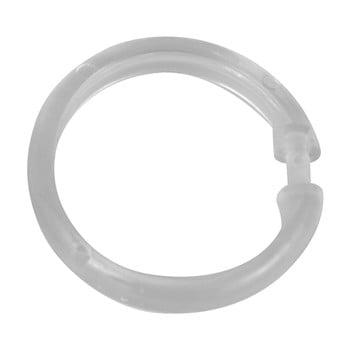 Set 12 inele transparente din plastic pentru perdea duș Wenko poza bonami.ro