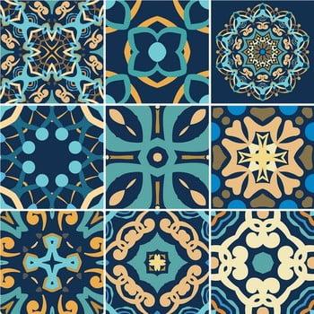 Set 9 autocolante perete Ambiance Dizier, 10 x 10 cm bonami.ro