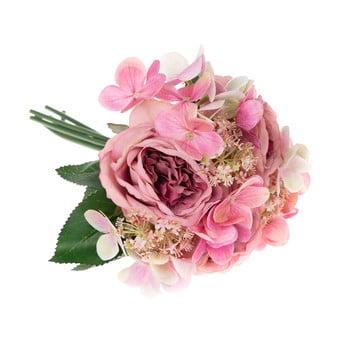 Buchet decorativ artificial de hortensie și trandafir Dakls Pessa poza bonami.ro