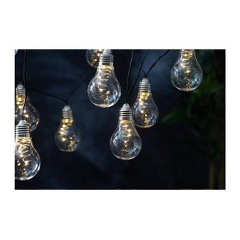 Șirag luminos solar LED pentru exterior Best Season Glow, alb bonami.ro
