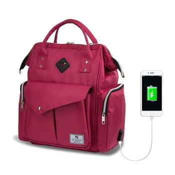 Rucsac maternitate cu port USB My Valice HAPPY MOM Baby Care, roz bonami.ro