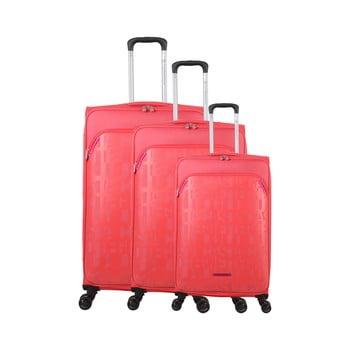 Set 3 trolere cu 4 roți Lulucastagnette Bellatrice, roz imagine