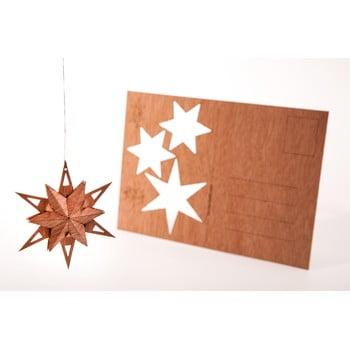 Carte poștală din lemn Formes Berlin Trojhvězda, 14,8 x 10,5 cm poza bonami.ro