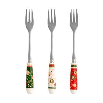 Set 6 furculițe desert cu motive de Crăciun Brandani Tempo di Festa bonami.ro