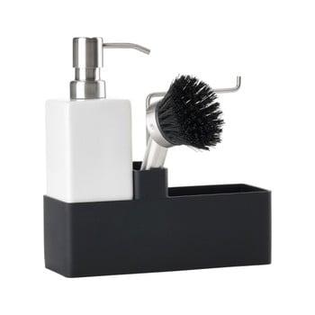Set pentru spălat vase Zone Trio, alb - negru bonami.ro