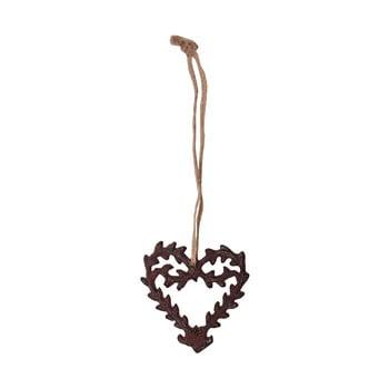 Decorațiune suspendată în formă de inimă Antic Line Ceramic poza bonami.ro