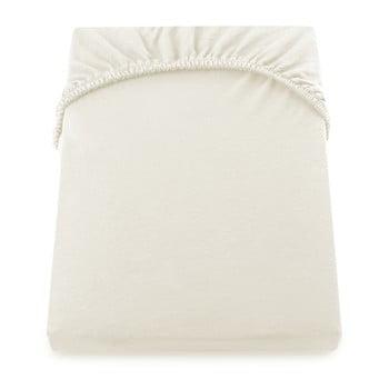 Cearșaf de pat cu elastic DecoKing Nephrite, 180–200 cm, crem poza bonami.ro