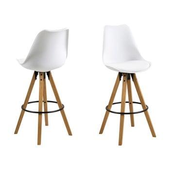 Set 2 scaune de bar Actona Dima, alb imagine