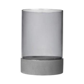 Suport pentru lumânare din sticlă și beton Blomus Concrete poza bonami.ro
