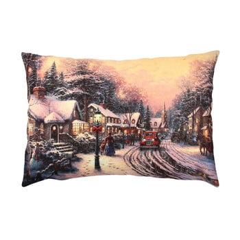Pernă Christmas Road In A Village, 43x48 cm bonami.ro