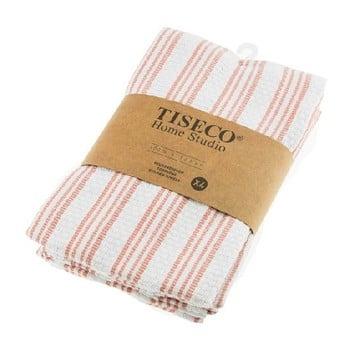 Set 4 prosoape de bumbac Tiseco Home Studio, 50 x 70 cm, roz poza bonami.ro