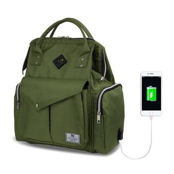 Rucsac maternitate cu port USB My Valice HAPPY MOM Baby Care, verde bonami.ro