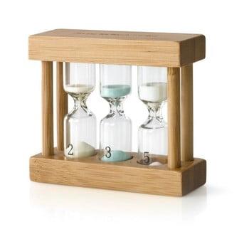 Cronometru tip clepsidră pentru ceai Bredemeijer, bambus poza bonami.ro