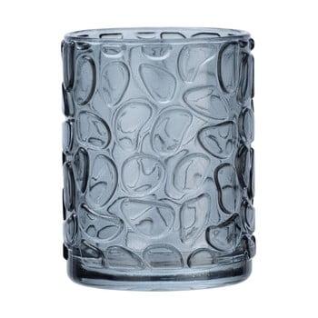 Suport sticlă pentru periuțe de dinți Wenko Vetro Foglia, gri bonami.ro