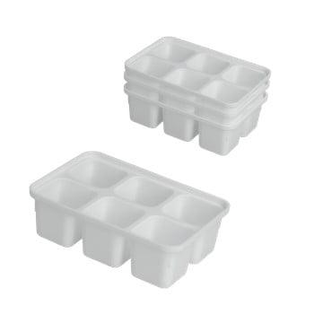 Set 4 forme pentru gheață Metaltex Ice Cube, alb poza bonami.ro