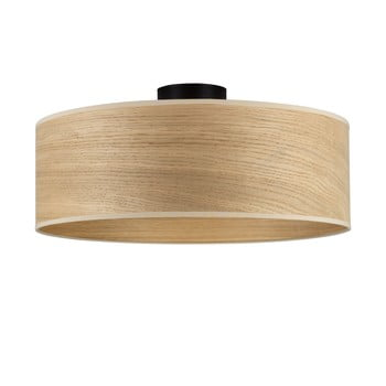 Plafonieră cu abajur din lemn de stejar Sotto Luce TSURI XL poza bonami.ro