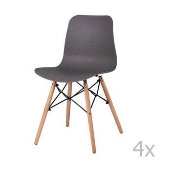 Set 4 scaune sømcasa Tina, negru bonami.ro
