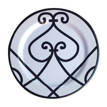 Set 6 farfurii din melamina Sunvibes Arabesque, 25 cm