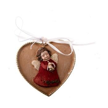 Decorațiune suspendată cu motive inimă/înger Dakls, lungime 5,5 cm bonami.ro