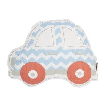 Pernă din amestec de bumbac pentru copii Mike&Co.NEWYORK Pillow Toy Car, 32 x 25 cm, albastru - roșu poza bonami.ro