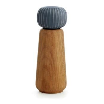Râșniță din lemn pentru sare/piper Kähler Design Hammershoi, mare, antracit, înălțime 17,5 cm poza bonami.ro