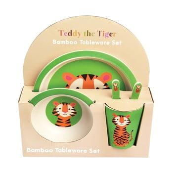 Set veselă din bambus pentru copii Rex London Teddy the Tiger bonami.ro