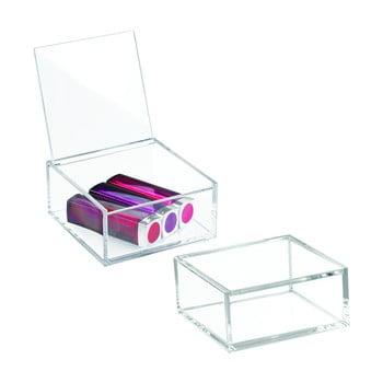 Cutie transparentă cu capac iDesign Clarity, 10x10cm bonami.ro