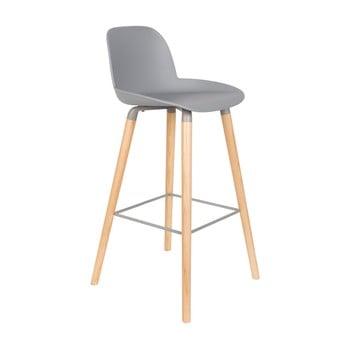 Set 2 scaune bar Zuiver Albert Kuip Light, înălțime scaun 75cm, gri deschis poza bonami.ro