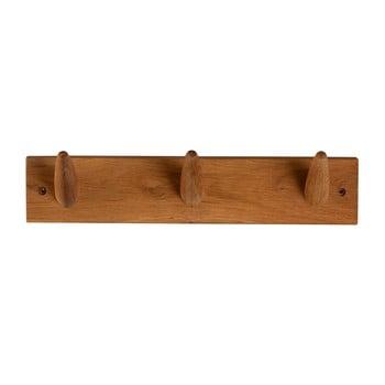 Cuier pentru perete din lemn masiv de stejar Canett Uno, lungime 40cm bonami.ro