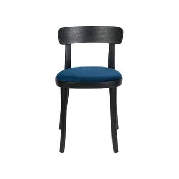 Set 2 scaune cu șezut albastru Dutchbone Brandon, negru imagine