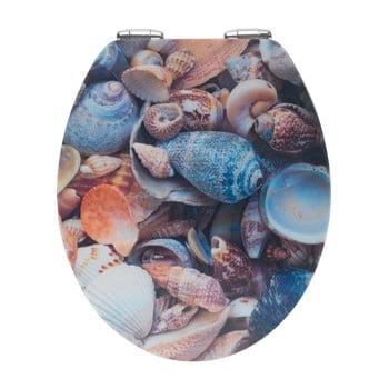 Capac WC din lemn 3D Wenko Sea Shell, 44,5 x 38 cm poza bonami.ro