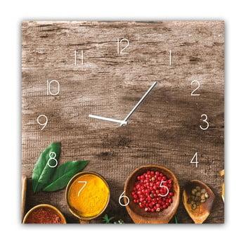 Ceas de perete Styler Glassclock Pepper, 30 x 30 cm bonami.ro