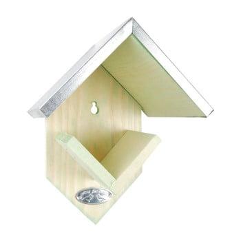Suport de perete din lemn de pin, pentru hrănit păsări Esschert Design, înălțime 19,5 cm bonami.ro
