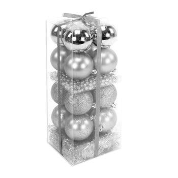 Set 16 decorațiuni de Crăciun și ghirlandă Unimasa Brightness, argintiu bonami.ro