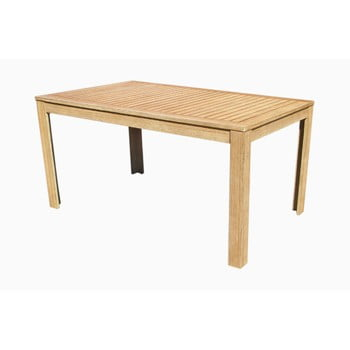 Set dining de grădină cu 1 masă și 6 scaune din lemn de salcâm Ezeis Falcon, natural imagine