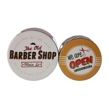 Set 2 cutii depozitare din tablă Premier Housewares Barber Shop poza bonami.ro