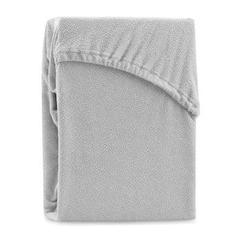 Cearșaf elastic pentru pat dublu AmeliaHome Ruby Siesta, 180-200 x 200 cm, gri bonami.ro