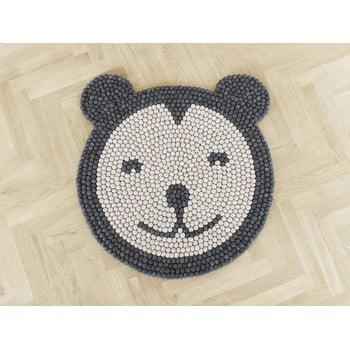 Covor cu bile din lână pentru camera copiilor Wooldot Ball Rugs Bear, ⌀ 90 cm bonami.ro
