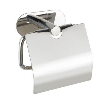 Suport oțel inoxidabil pentru hârtie igienică fără sistem de prindere cu șurub Wenko Turbo-Loc® Orea Shine Cover poza bonami.ro