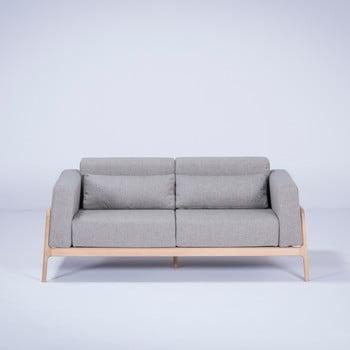 Canapea cu structură din lemn de stejar Gazzda Fawn, 180 cm, gri poza bonami.ro