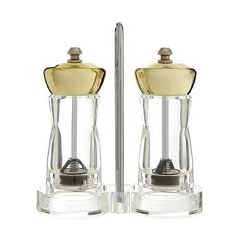 Set râșnițe pentru sare și piper cu suport Premier Housewares Mill, detalii argintii bonami.ro