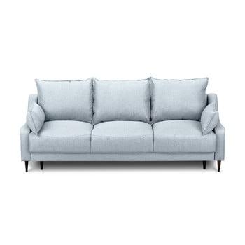 Canapea extensibilă cu spațiu pentru depozitare Mazzini Sofas Ancolie, albastru deschis, 215 cm imagine