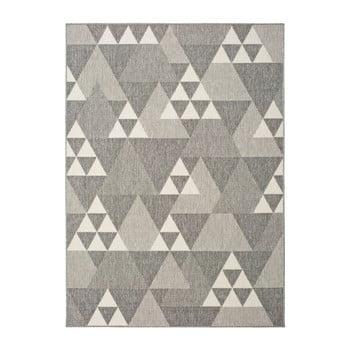 Covor pentru exterior Universal Clhoe Triangles, 80 x 150 cm, bej-gri bonami.ro
