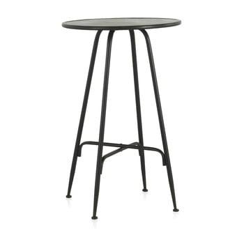 Masă de bar din metal Geese Industrial Style, înălțime 100 cm, negru poza bonami.ro