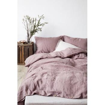 Husă pentru pilotă din in Linen Tales, 140 x 200 cm, violet purpuriu imagine