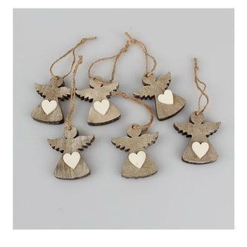Set 6 decorațiuni suspendate Crăciun în formă de înger Dakls Edmund poza bonami.ro